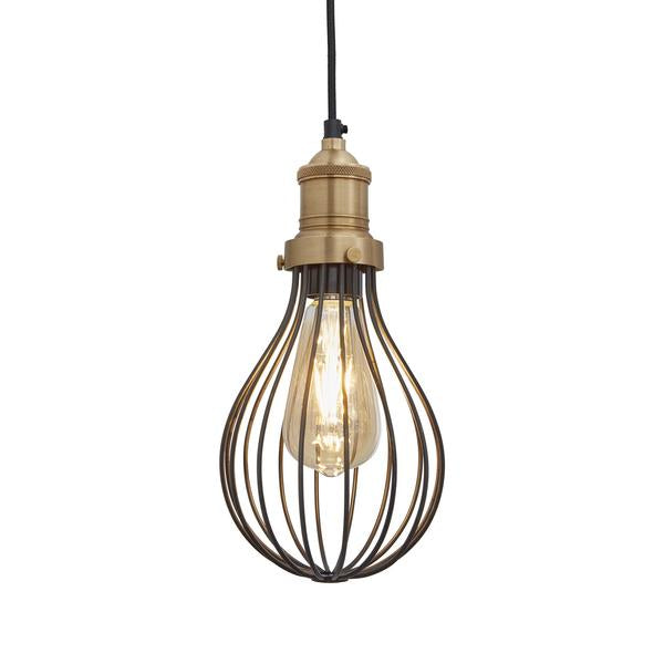 Vintage Balloon Cage Pendant Light