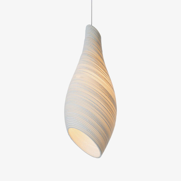 wasp nest shaped white cardboard pendant lamp