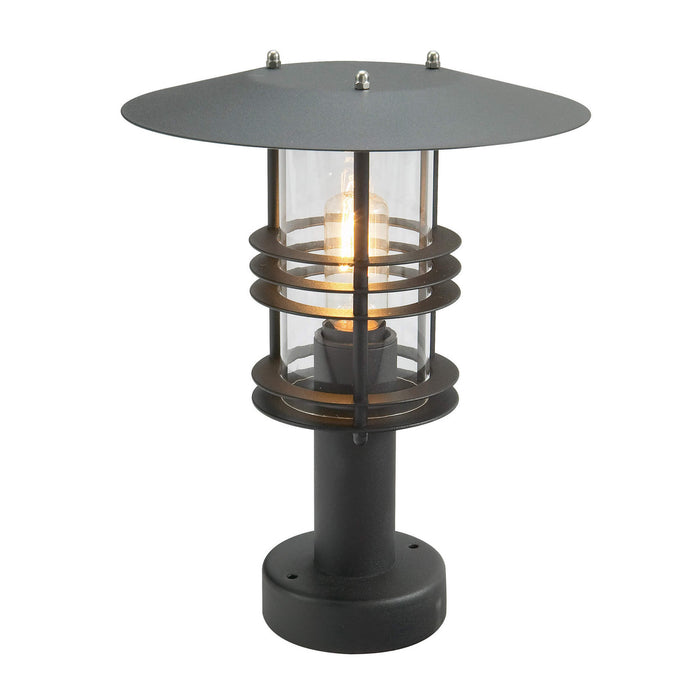 Stockholm Outdoor Pedestal Light in Black