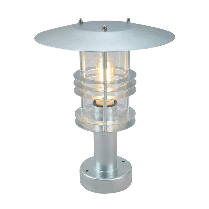 Stockholm Outdoor Pedestal Light in Galvanised