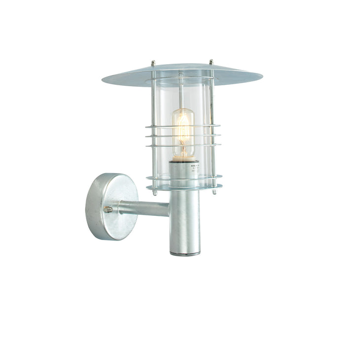 Stockholm Outdoor Wall Lantern in Galvanised