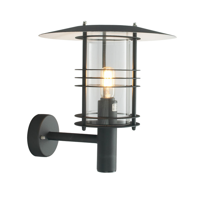 Stockholm Outdoor Wall Lantern Grande Black