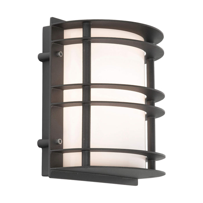 Stockholm Flush Outdoor Wall Light in Black Opal