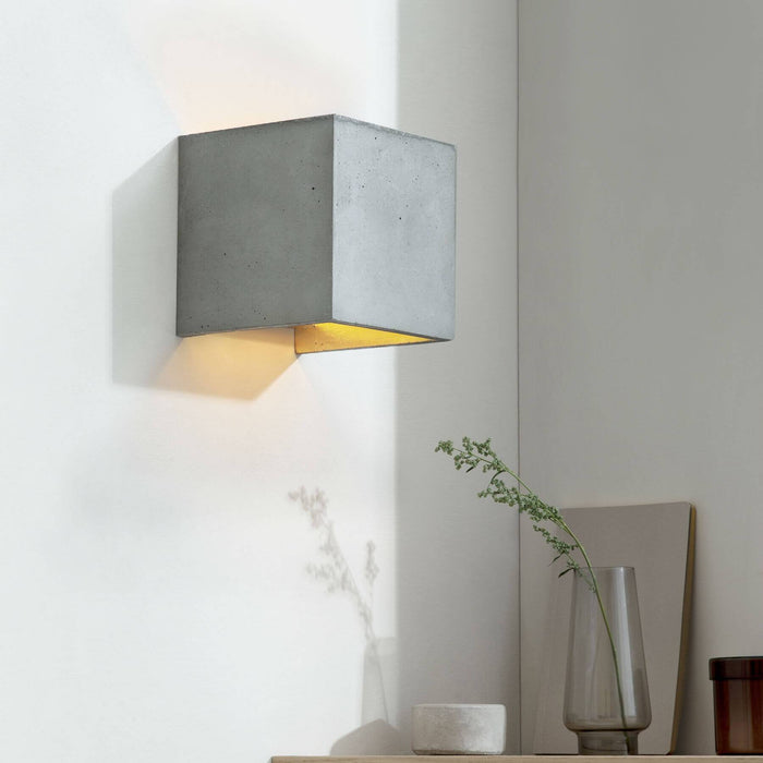 Concrete Cubic Wall Light