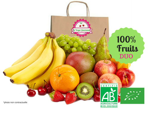 Panier - Duo 100% fruits (2personnes) - le verger gourmand