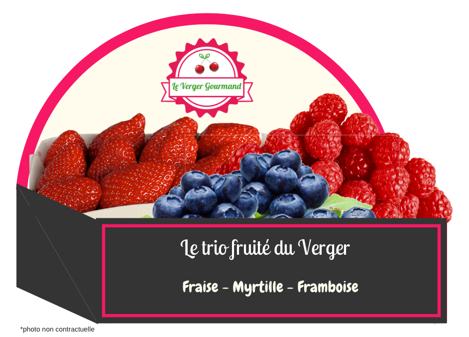 Le trio de fruité du Verger - le verger gourmand