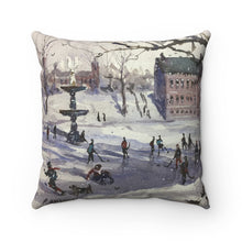 An Ice Hockey Game on Bartlett Mall Pillow Case