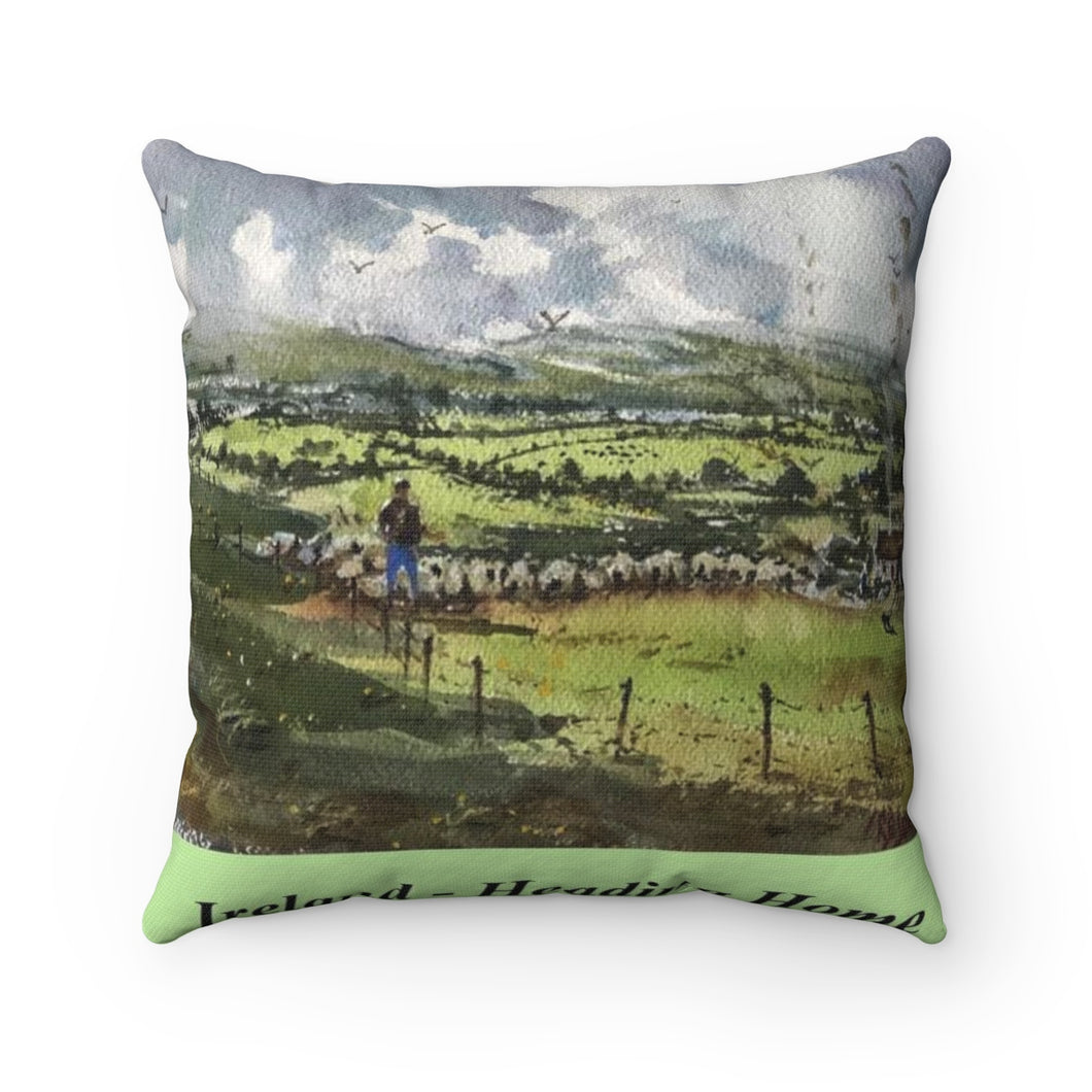 Heading Home in Ireland Square Pillow with Insert