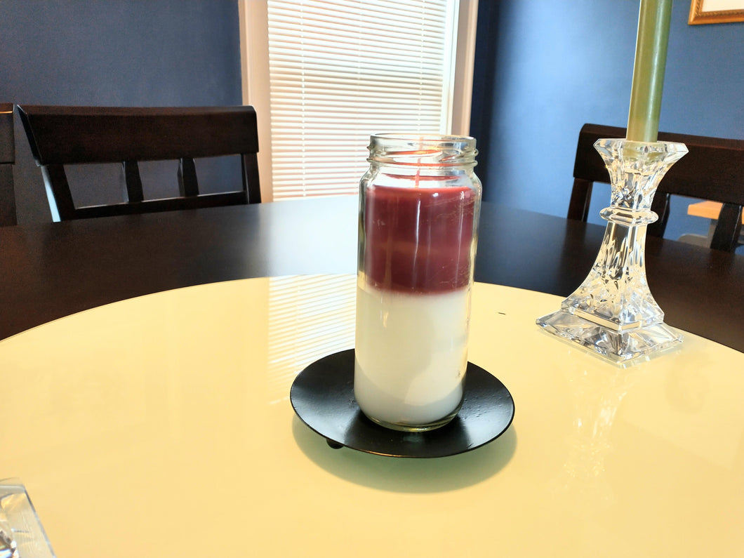 Roo's Recycled Candles - the layered one....
