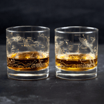 Night Sky Star Chart Whiskey Glass Set