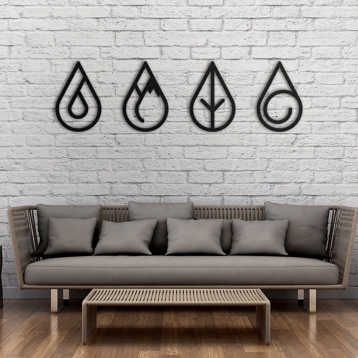 4 Elements - Metal Wall Art