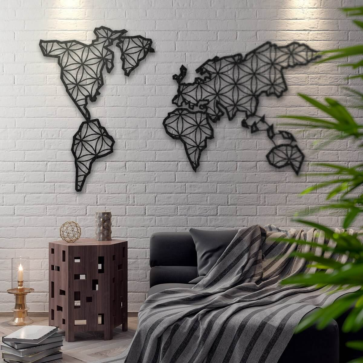 Metal World Map