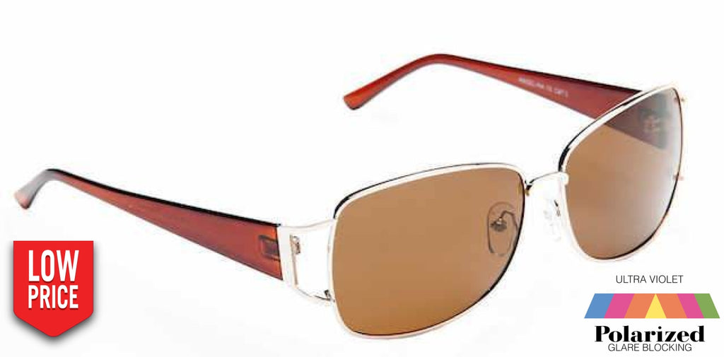 Angelina Brown Polarized Ladies Sunglasses