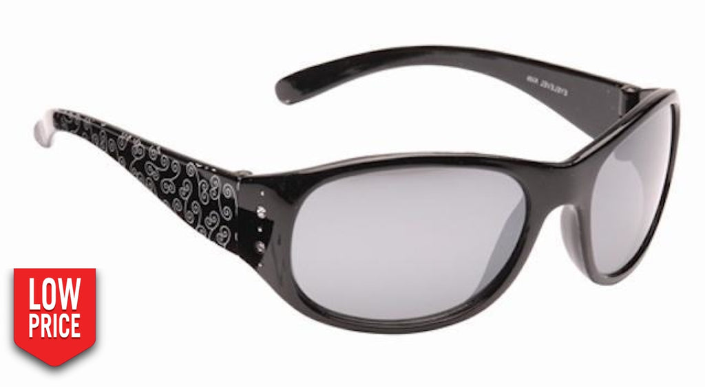 Crystal Black Kids Sunglasses