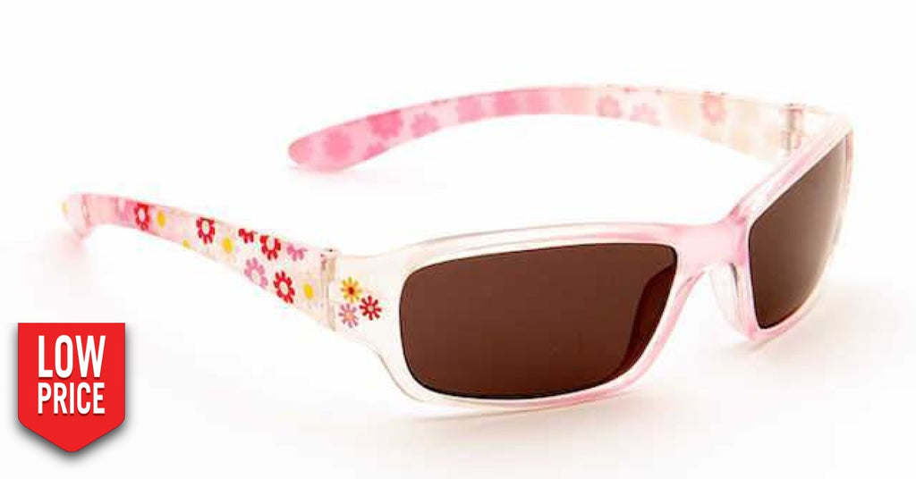 Floral Brown And Pink Kids Sunglasses