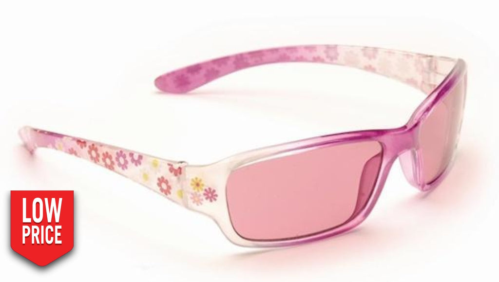 Floral Pink Kids Sunglasses