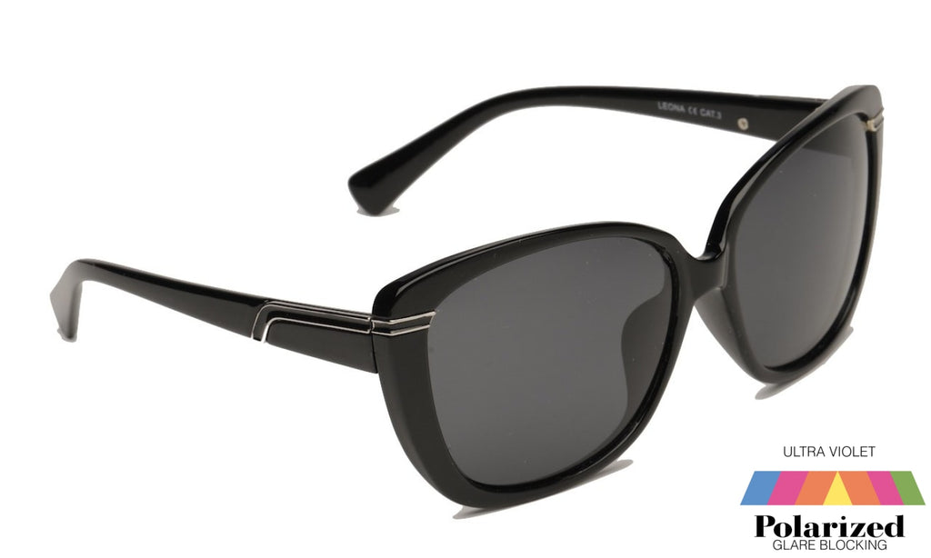 Leona Black Polarized Ladies Sunglasses