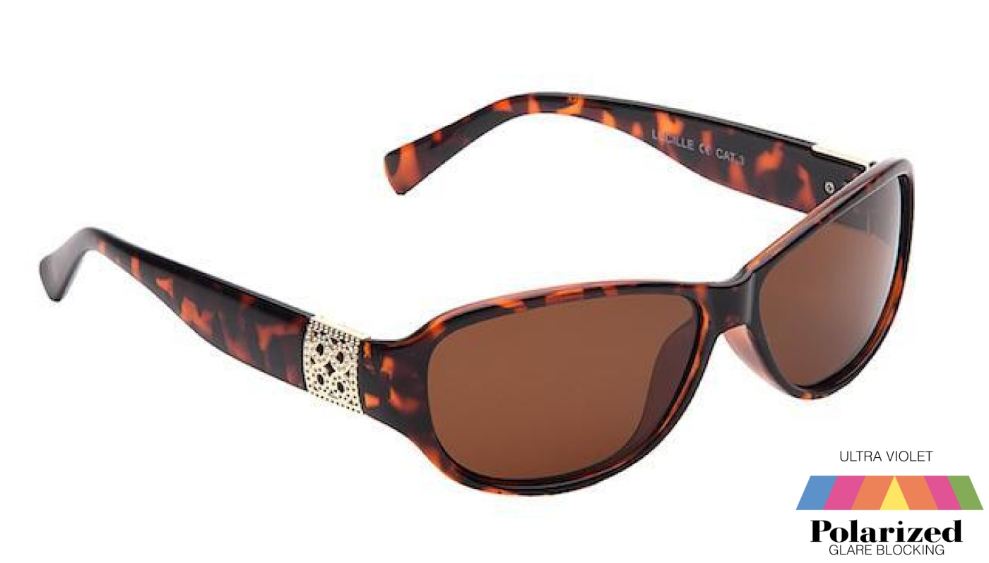 Lucille Tortoiseshell Polarized Ladies Sunglasses
