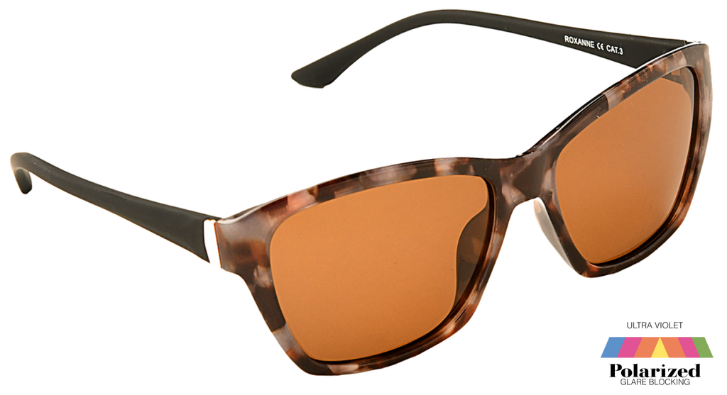 Roxanne Brown Lens Polarized Ladies Sunglasses