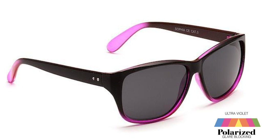 Sophia Black And Pink Polarized Ladies Sunglasses