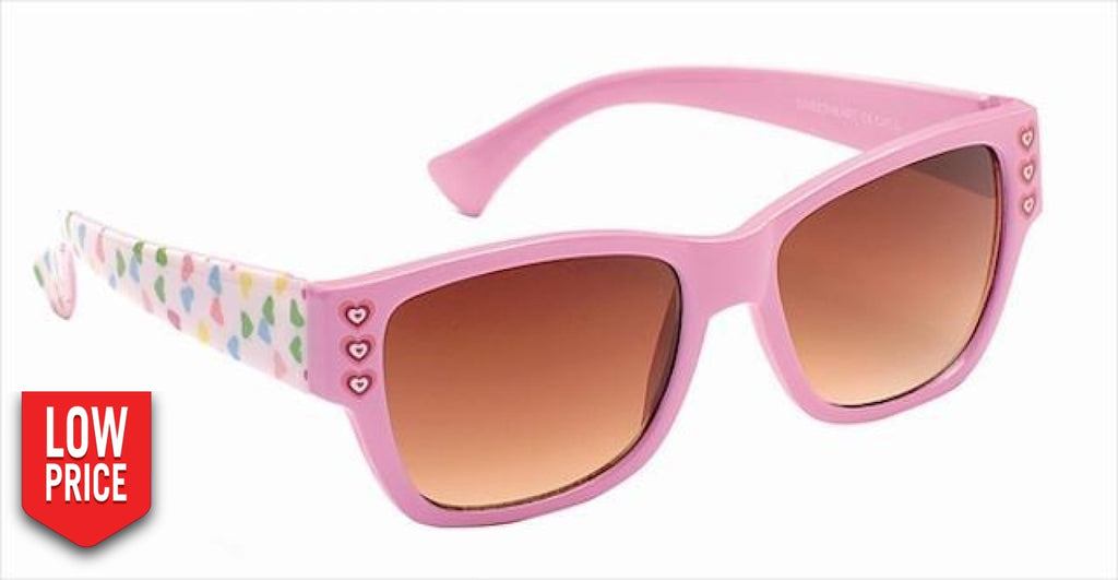 Sweetheart Brown And Pink Kids Sunglasses