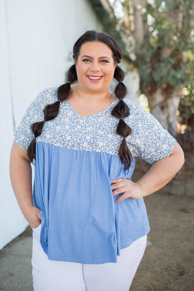 Spring Daisy Babydoll Top - Atomic Wildflower