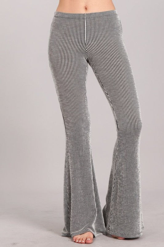 Selena Striped Bell Bottoms - Atomic Wildflower