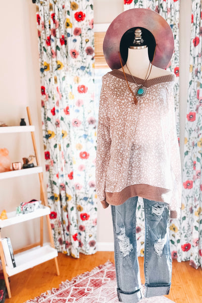 That's Taupe Puff Sleeve Top - Atomic Wildflower