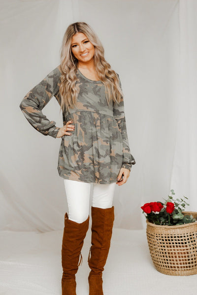 Hidden in Plain Sight Camo Top - Atomic Wildflower