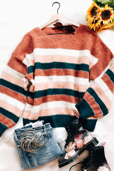 Striped Things And Winter Flings Sweater - Atomic Wildflower