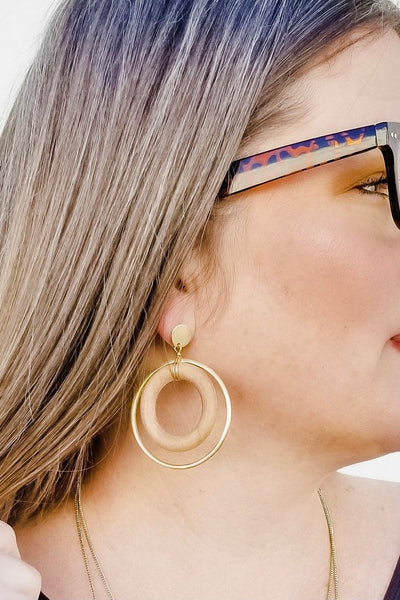 Hippie Soul Hoop Earrings - Atomic Wildflower