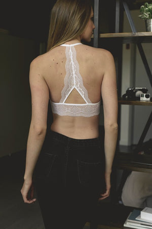 Scallop Racer Back Halter Bralette - Atomic Wildflower