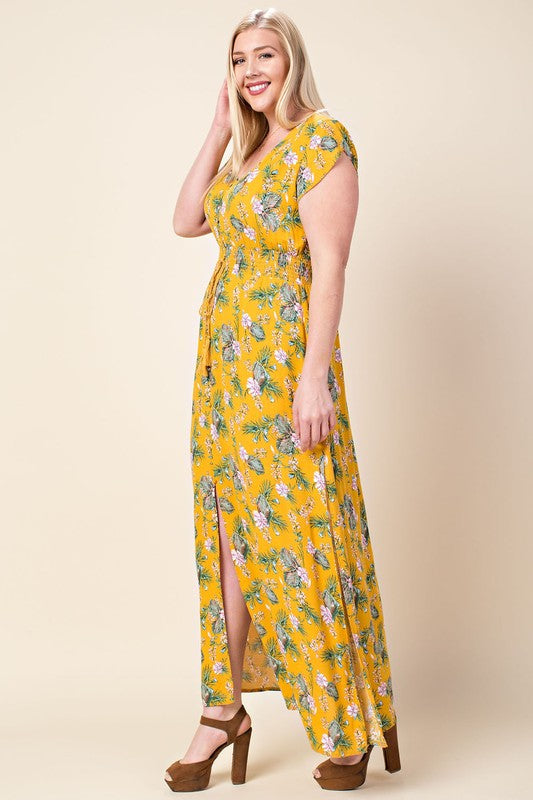 Fly Away With Me Maxi Dress - Atomic Wildflower
