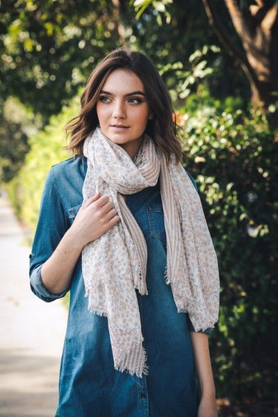 Just Peachy Spring Scarf - Atomic Wildflower