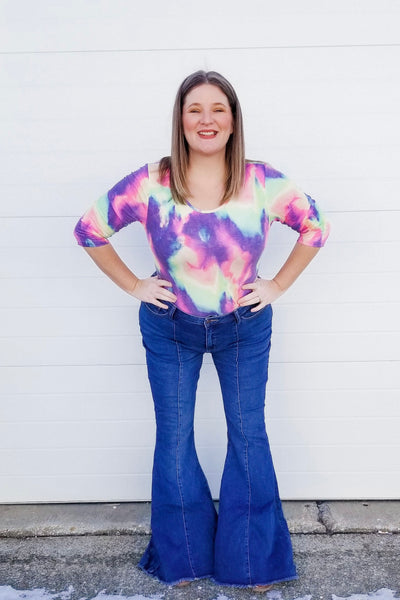 More Than A Feeling Tie Dye Bodysuit - Atomic Wildflower