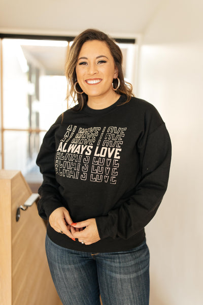 Always Love Pullover in Black - Atomic Wildflower