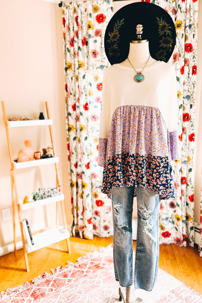 Forget Me Not Floral Top - Atomic Wildflower