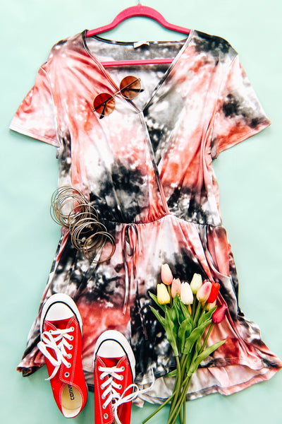 Clouds of Pink Romper - Atomic Wildflower
