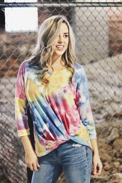 Twist And Shout Tie Dye Top - Atomic Wildflower