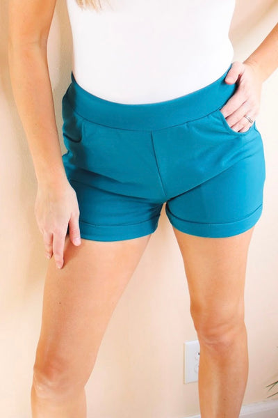 Can't Fight This Feeling Shorts In Jade - Atomic Wildflower