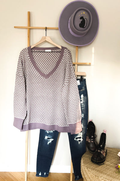 Norah V-Neck Sweater - Atomic Wildflower