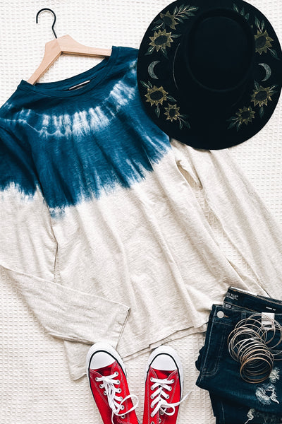 Chelsea Tie-Dye Detail Top - Atomic Wildflower