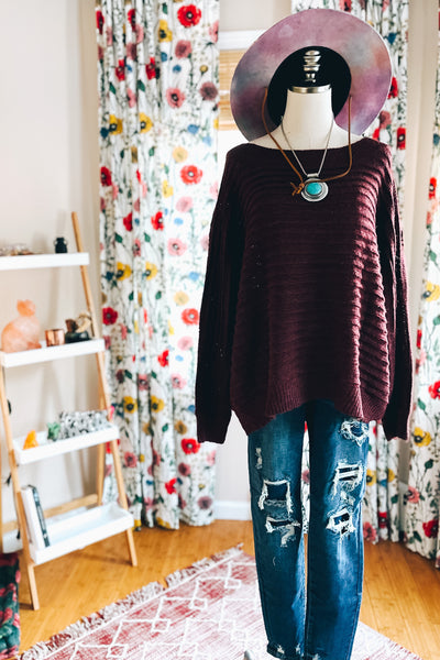 Cozy and Chic Dressed in Wine - Atomic Wildflower