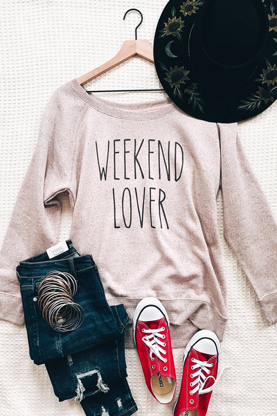Weekend Lover Relaxed Scoop Neck Pullover - Atomic Wildflower