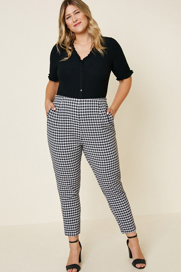 Gotta Get That Gingham Pant - Atomic Wildflower