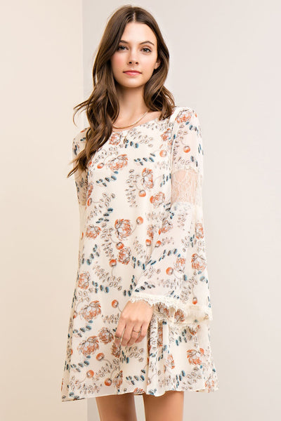 Flora + Lace Dress - Atomic Wildflower