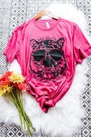 Cool Cats Tee • Hot Pink - Atomic Wildflower