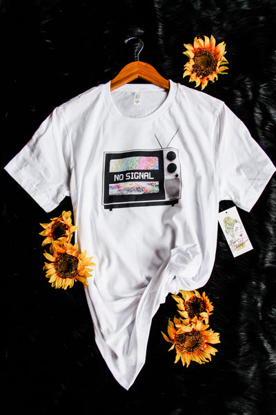 No Signal Tee - Atomic Wildflower