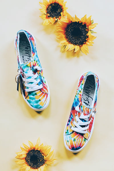 Blowfish Malibu Fruit • Rainbow Tie Dye Canvas - Atomic Wildflower