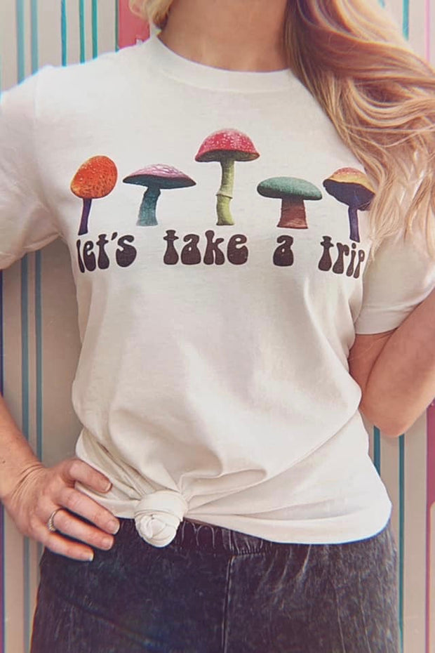 Let's Take a Trip Tee - Atomic Wildflower
